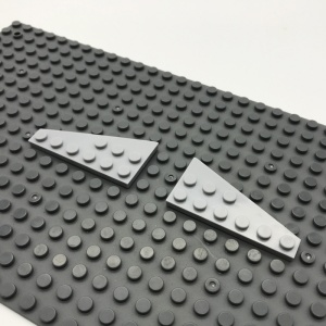 54384 White Lego 3 x 6 Wedge plate//wings left /& right 54383